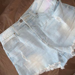 F21 Jean denim shorts